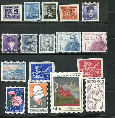 LOT 80497 MINT H COLLECTION OF  STAMPS FROM CZECHOSLOVAKIA