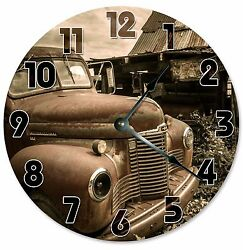 VINTAGE RETRO CAR Clock - Large 10.5 Wall Clock - 2125
