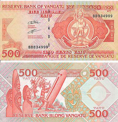 Vanuatu [12] - 500 Vatu 1993 aUNC - Pick 5b(1), Serie BB ()