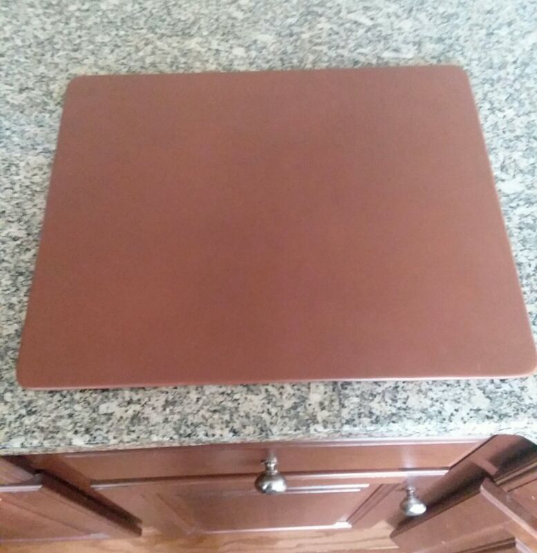 """Dacasso Leather Desk Pad, 14""""x17"""", Chocolate Brown, Conference Table Pad"""