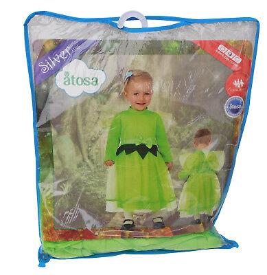leinkind 6-12 Monate Fee Grün Feenkostüm Kleid Schleife NEU (Kleine Mädchen Fee Kleider)