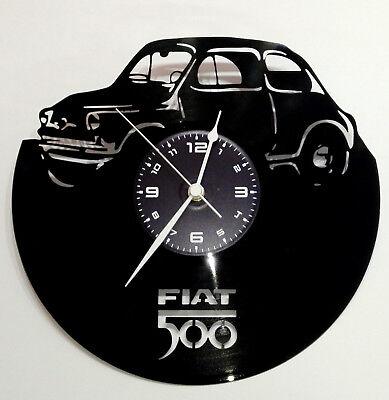 OROLOGIO DA PARETE ARTIGIANALE - DISCO IN VINILE 33 GIRI - AUTO TUNING FIAT 500