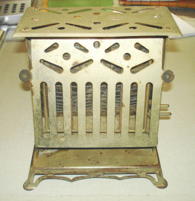 Antique Vintage ELECTRIC TOASTER - 1914 MARION GIANT FLIPFLOP Marion IN