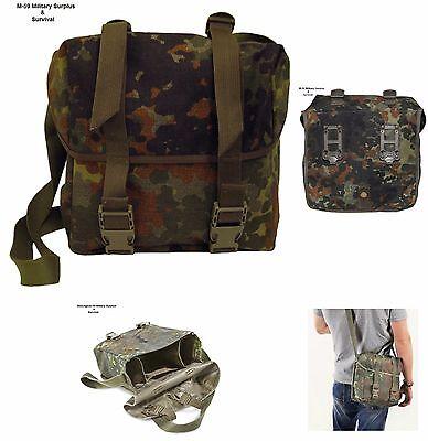 SHOULDER BREAD BAG WITH SHOULDER STRAP - GERMAN MILITARY - FLECKTARN -EXCELLANT
