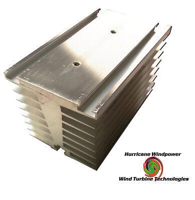 Aluminum Heat Sink 4.5l X 2.75w X 3.25h For Windsolar Heat Diversion Cpu