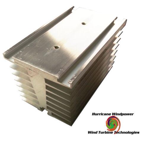 "Aluminum Heat Sink 4.5""L x 2.75""W x 3.25""H for Wind/Solar Heat Diversion, CPU,"