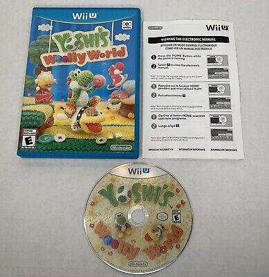 Yoshi's Woolly World (Wii U, 2015) w/ Online Manual - Tested