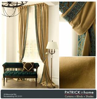 ELEGANT VELVET CURTAIN ONLY $24/m + LACE from$26/m (No.515)
