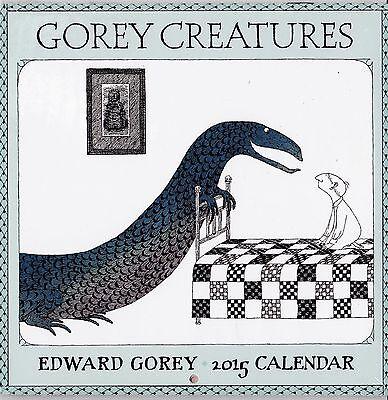 Edward Gorey 2015  Gorey Creatures  Mini Wall Calendar   New