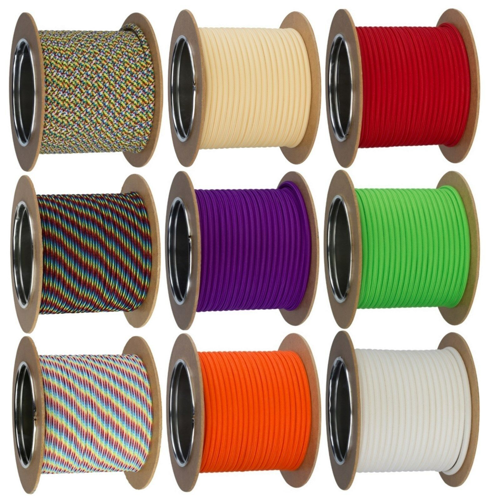 Textilkabel Lampen-Kabel Stromkabel Pendelleitung Stoffkabel 2-adrig