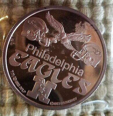 NFL Philadelphia Eagles Coin 1 Troy Ounce .999 Fine Silver
