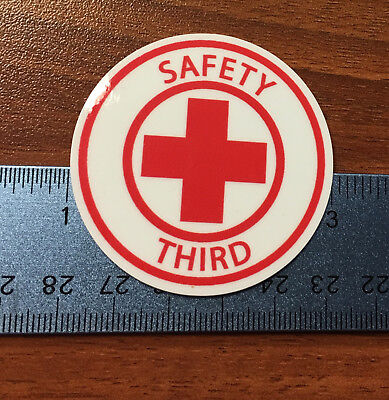 Safety Third Lot Of 5 Hardhat Stickers 2 Round Decals Funny Construction Union