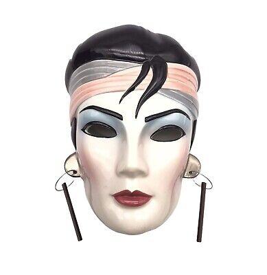 Vandor Pelzman Designs 1986 Woman Wall Hanging Face Mask Hand painted