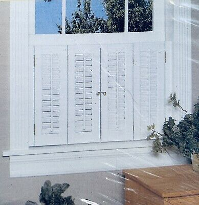 """Colonial Shutter Set, Faux Wood, White, 29""""W x 20""""L, 199135 ~ 766686413106"""