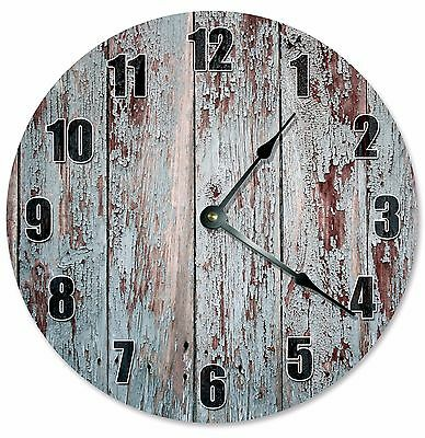 RUSTIC OLD WOOD Clock - Large 10.5 Wall Clock - 2286