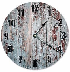 RUSTIC OLD WOOD Clock - Large 10.5 Wall Clock - 2286