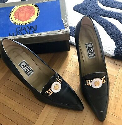 AUTHENTIC GIANNI VERSACE WOMEN BLACK SHOES 10