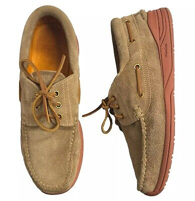 Visvim Americana Deck Folk Boat Shoes Size 12