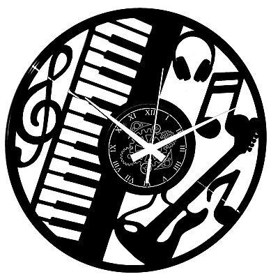 Reloj de Pared Teclado Note Plan - Guitarra Música Idea de Regalo