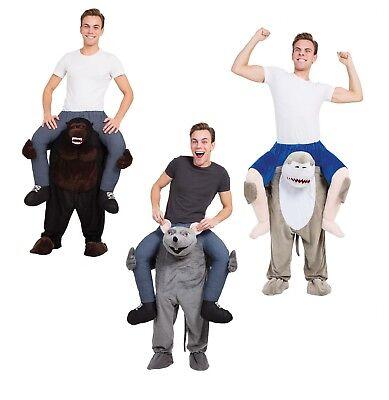 Adult Unisex Gorilla / Shark / Rat Piggy Back Costumes Halloween Fancy - Gorilla Kostüm Piggy Back