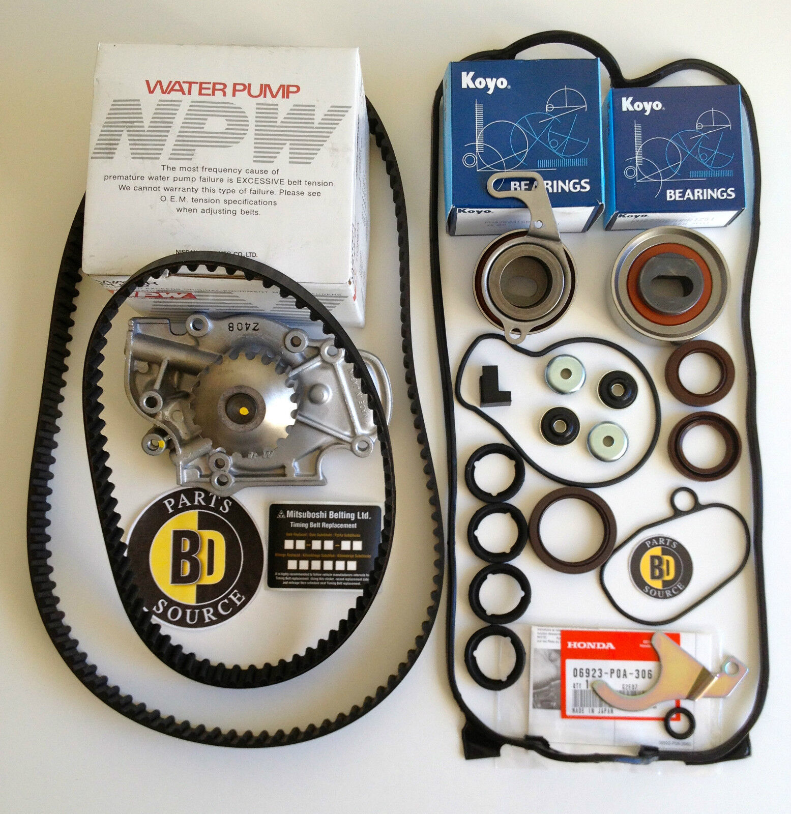 Timing Belt Change Honda Accord: COMPLETE Timing Belt Water Pump Replacement Kit 90-97