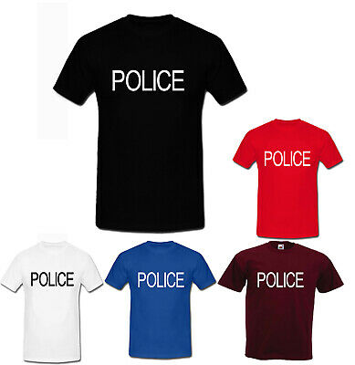POLICE fbi cia army fancy dress costume cops dea funny weed cool UNISEX t shirts](Funny Cop Costume)