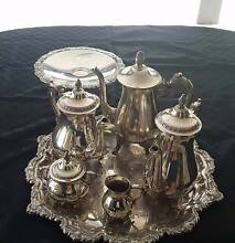 Genuine VINERS Silver Plate Tea Service Beaudesert Ipswich South Preview