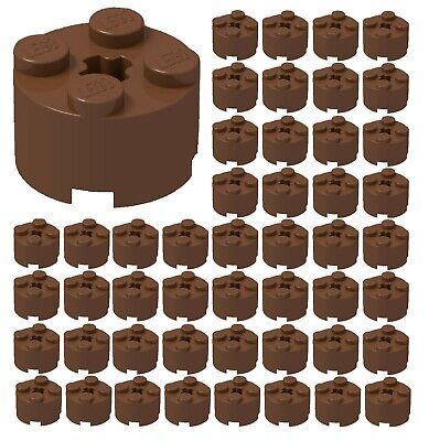 ☀️50x NEW LEGO 2x2 REDDISH BROWN ROUND Bricks (ID 3941) BULK Parts