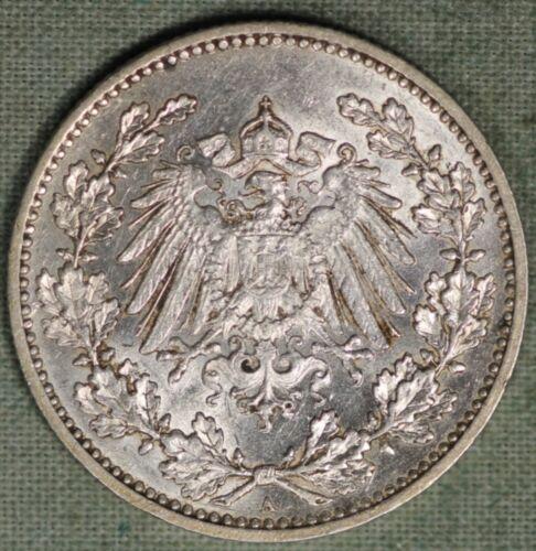 1898 A SILVER GERMANY EMPIRE 50 PFENNIG IMPERIAL EAGLE