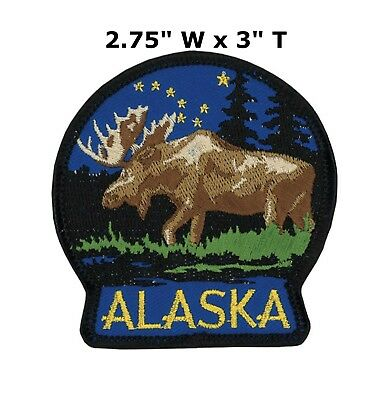 e88ff8d2 National Park Badge Patch Alaska Travel State Park Embroidered Iron / Sew-on