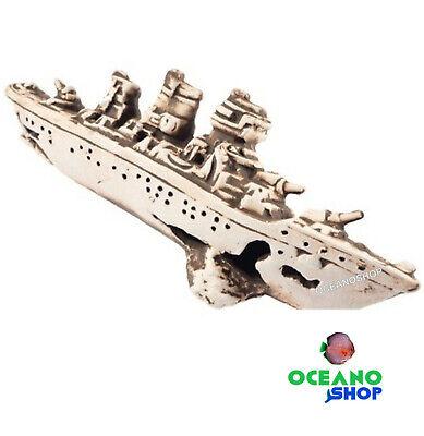 Barco de guerra hundido naufragio decoracion acuario figura N-22039