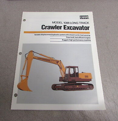 Case 1088 Long Track Crawler Excavator Specifications Brochure Manual Ce40389