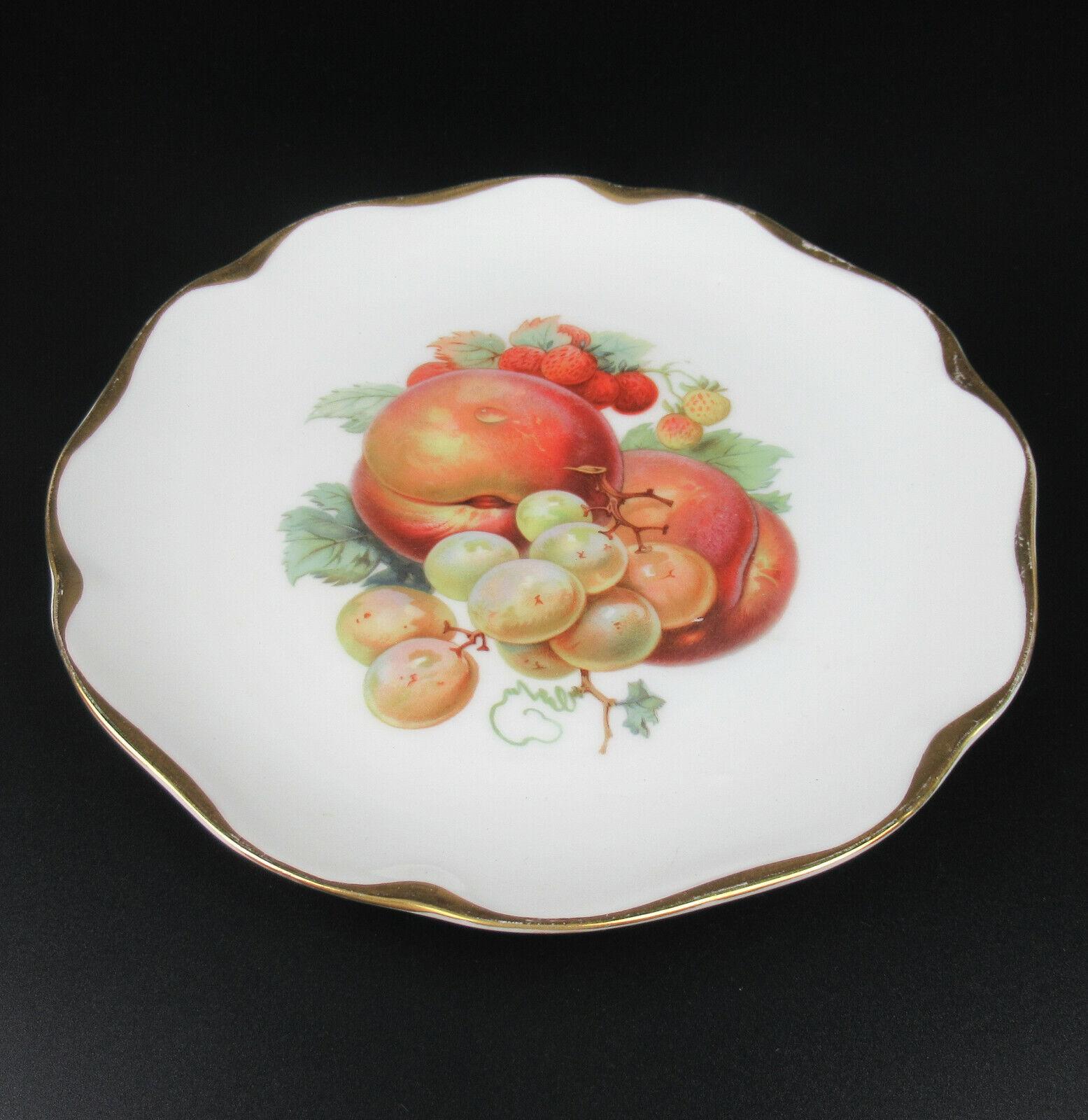 Rosenthal Maria Kuchenteller Goldrand Obst Dekor Variante I