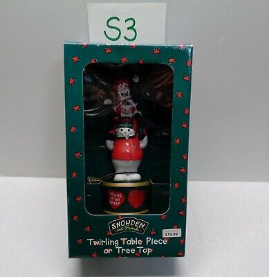 Target SNOWDEN TWIRLING TABLE DECORATION OR TREE TOPPER Christmas Snowman #S3