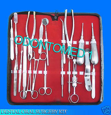 25 Pcs Premium Dental Oral Surgery Kit Extraction Instruments Forceps Elevators