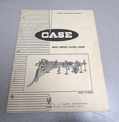 Case 5600 Series Chisel Plow Parts Catalog Manual 884 1968