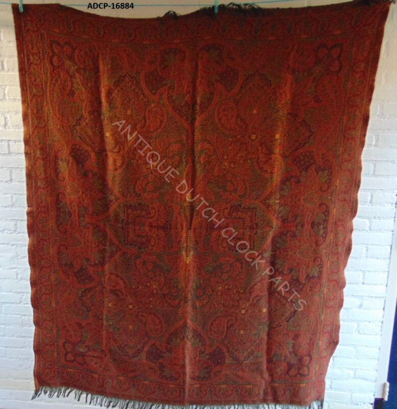 FOLKLORE DUTCH PAISLEY SHAWL DESIGN OR BIETKLEED TABLE CLOTH 166 BY 135 CM