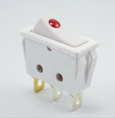 Einbau Wippschalter, 15A 250VAC, 30.5*10.6*21mm Wippe beleuchtet, weiß