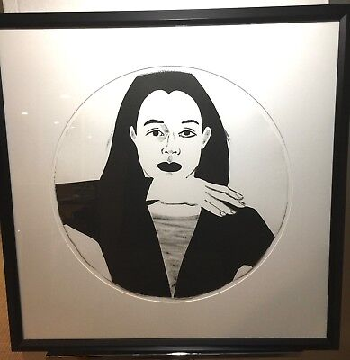 "Alex Katz ""Portrait in a Convex Mirror"" original signed lithograph"