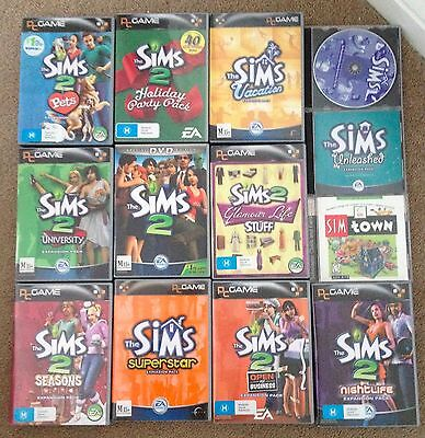 Computer Games - Sims Computer Game Collection