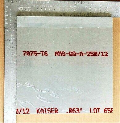 7075-t6 Aluminum Sheet .063 Thick X 12.0 Width X 12.0 Length