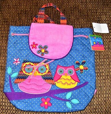 New   Stephen Joseph Quilted Backpack Owls   One Size
