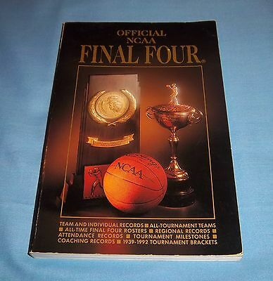 Official 1993 NCAA Basketball Final Four Book Records Stats - Final Four Records