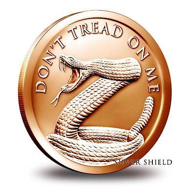 1 oz Copper Round - Don't Tread on Me Silver Shield