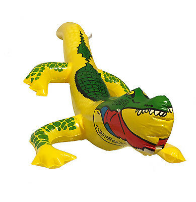 Inflatable Crocodile Alligator Blow Up Toy Halloween Fancy dress Beach Hen Party ()