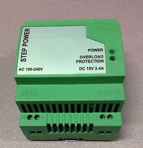 15vdc power supply din rail connection
