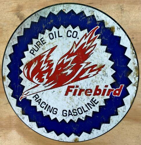 "Pure Firebird Racing Gasoline Aluminum Distressed Looking Metal Sign 12"""