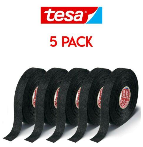 Tesa Tape 51608 Adhesive Wire Loom harness Cloth Tape (15m X 19mm 5 PcsPack)