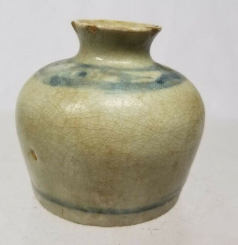 Antique Chinese Underglaze Blue and White Brush Coupe Washer