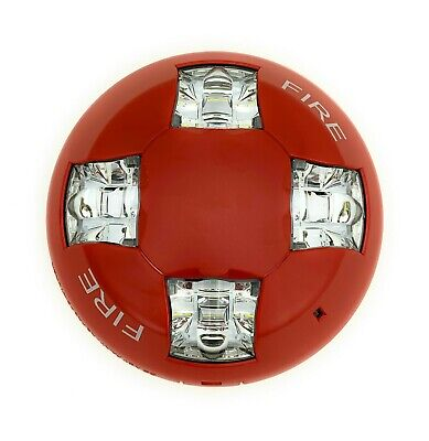 Edwards Gcvrf Ceiling Strobe 15-115cd Red With Fire Marking